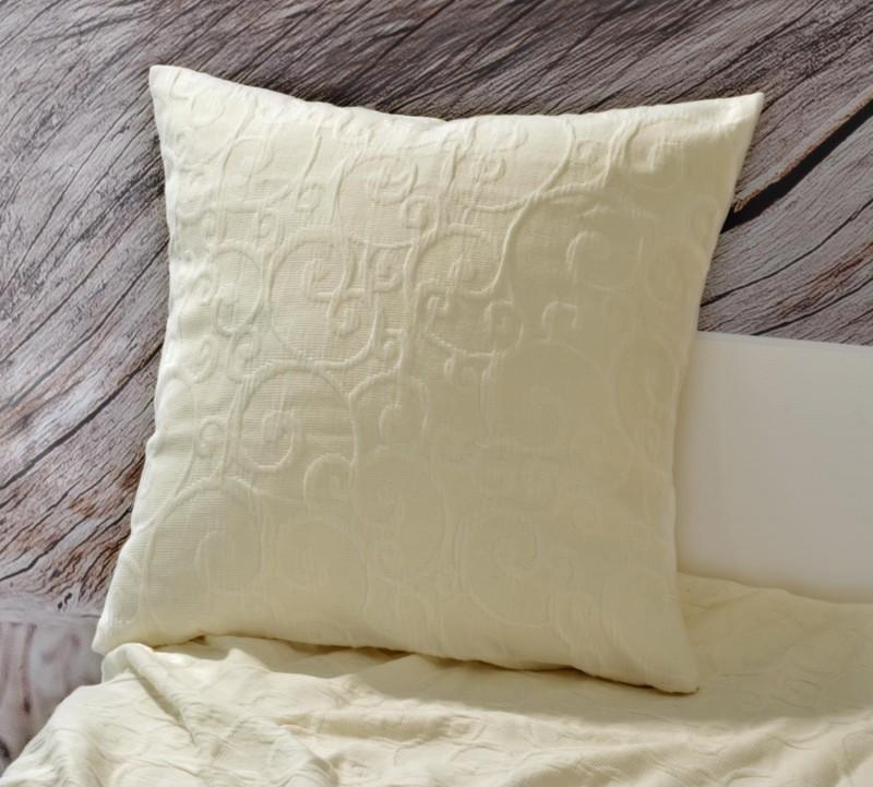 Kissen Fleur - florale Rankenmuster - beige 45x45cm