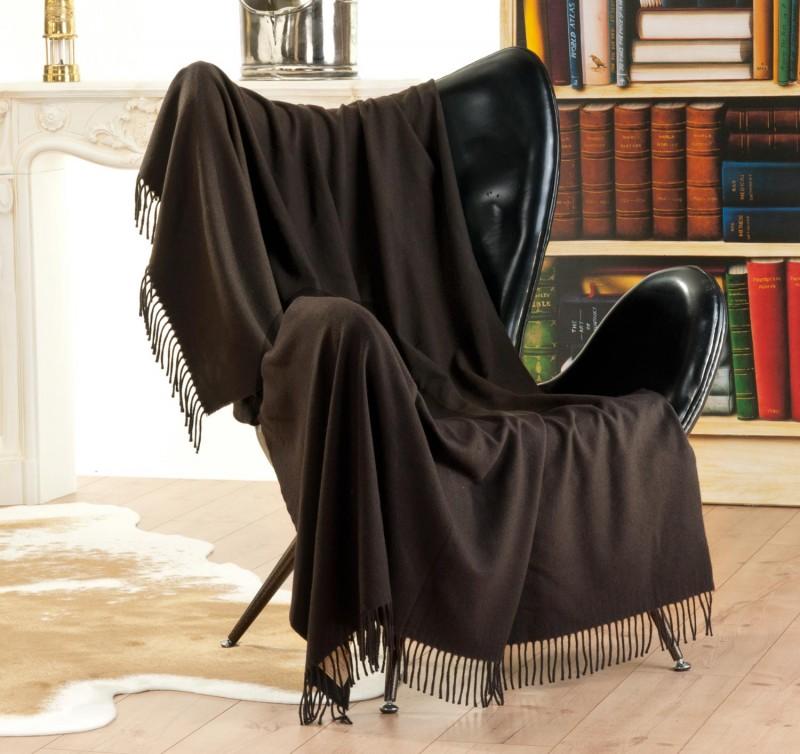 Wolldecke aus Yakwolle, Yakdecke Tibet von Steinbeck 140x190cm mit Fransen