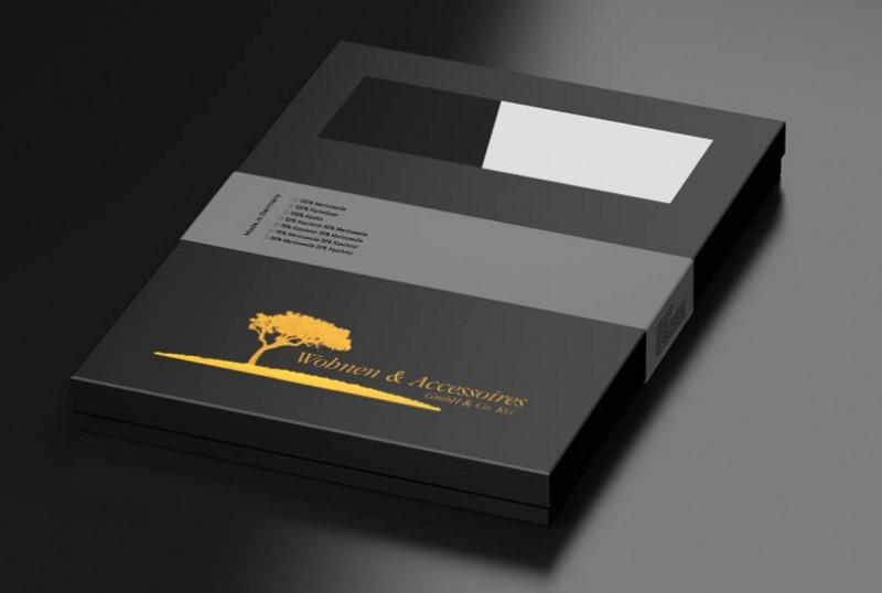 Edler Geschenkkarton. Werten Sie Ihre Decke und Ihr Geschenk durch diese hochwertige Verpackung auf