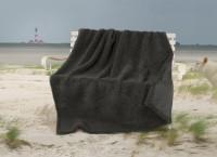 Dicke Wolldecke Nordsee aus Schurwolle von Schafen der Deich- und Küstenlandschaften anthrazit / Ausgewählt: 150x200cm