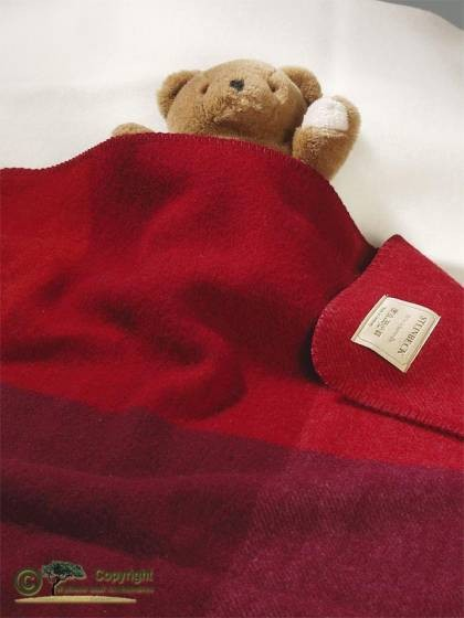 ÖKO-Test empfehlenswert - Babydecke, Baby Wolldecke, Monza rot 75x100cm von Steinbeck