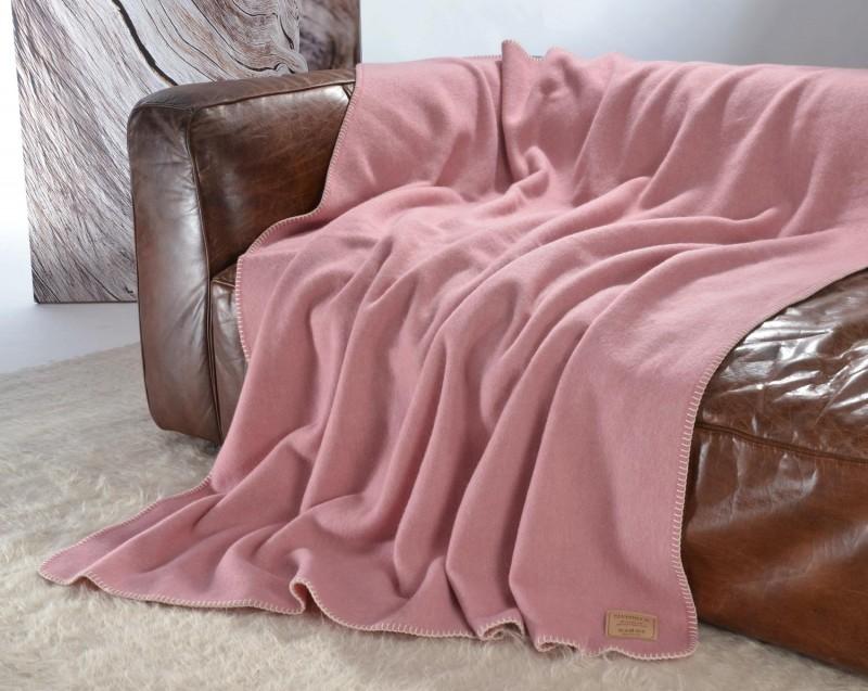 AKTION hübsche Wolldecke von Steinbeck in rose 130x180cm