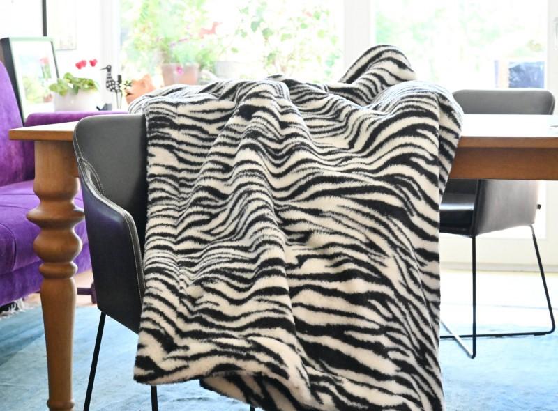 Doppel-Wolldecke Zebra 150x200cm aus Schurwolle von Schafen der Deich- und Küstenlandschaften