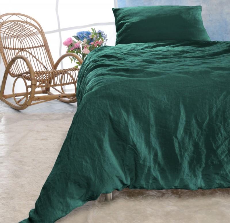 Leinen-Bettwäsche-Set Sintra grünblau 100% Leinen - hergestellt in Portugal nach Öko Tex 100