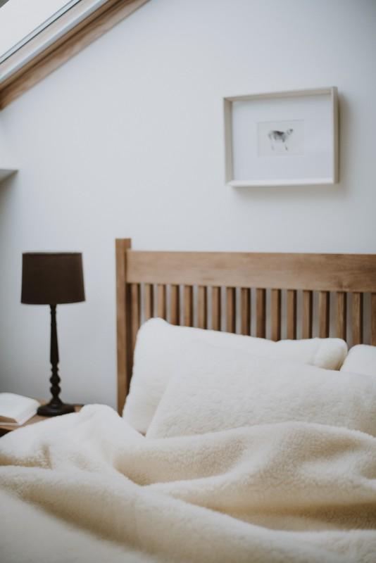 Wolldecke (Bettdecke) Flaum 135x200cm aus 100% Merinowolle