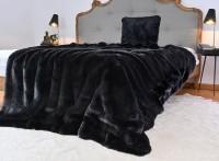 Premium Plus Felldecke Onyx schwarz in 5 Größen / Ausgewählt: 150x200cm