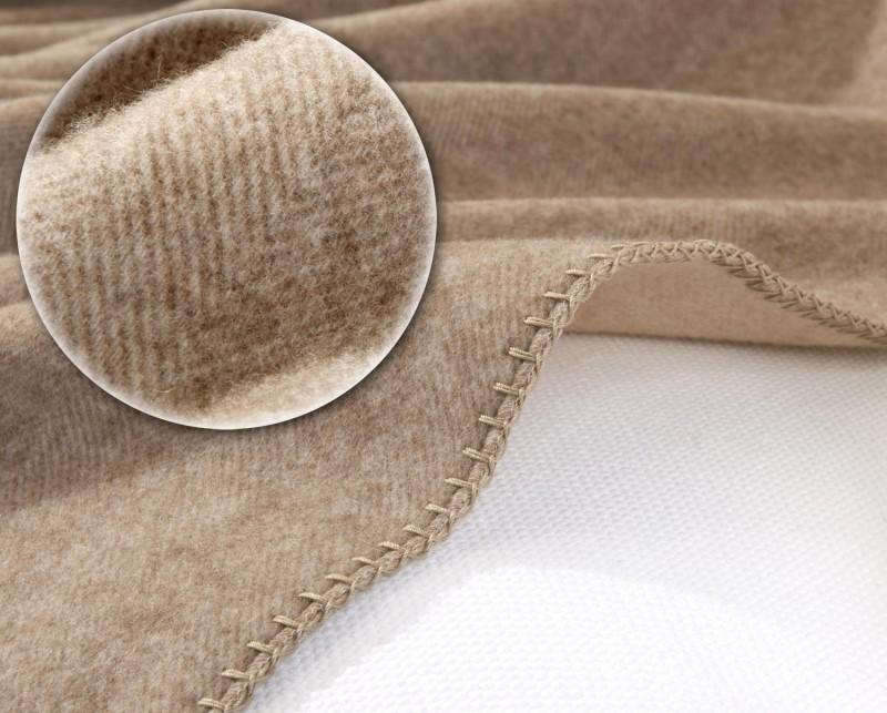 Kaschmirdecke Portofino, Kaschmirplaid, umkettelte Wolldecke 150x150cm für Kinder