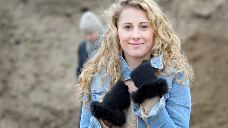 Edelste Handschuhe mit Fell, Wollhandschuhe Merinowolle und Possum schwarz Größe S