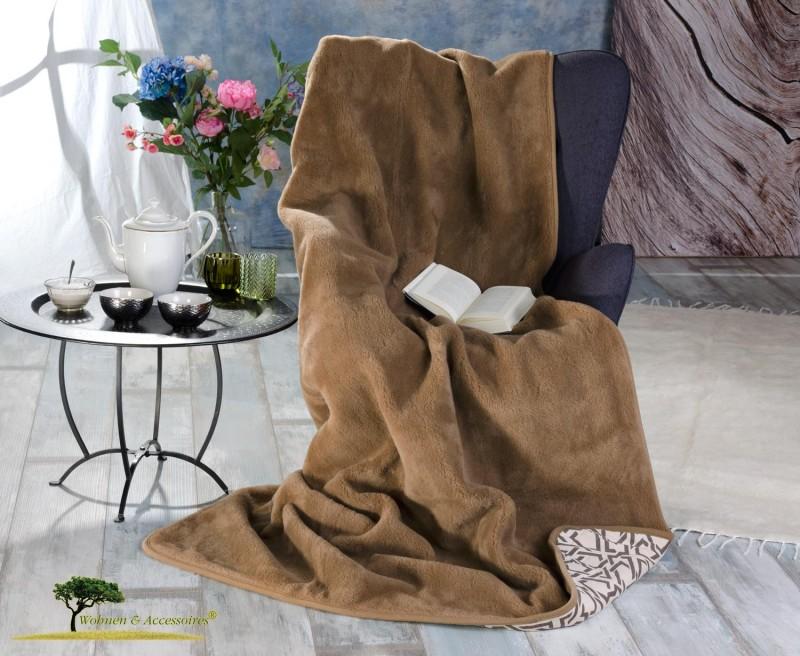 Wolldecke (Bettdecke) Etno 135x200cm aus 90% Merinowolle und 10% Kamelhaar
