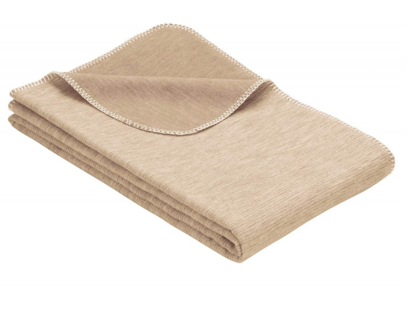 IBENA Babydecke aus 100% Baumwolle GOTS zertifiziert 100x140cm natur
