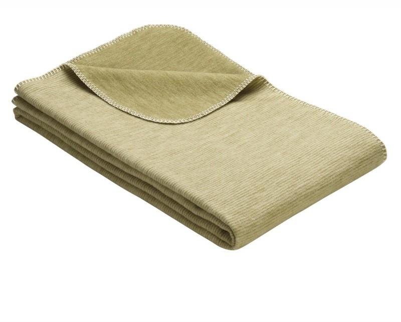 IBENA Babydecke aus 100% Baumwolle GOTS zertifiziert 100x140cm grün