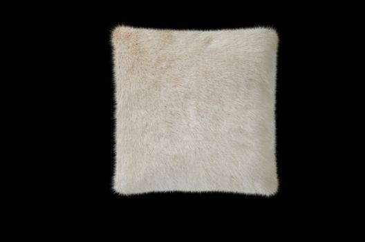 Fellkissen, Webpelzkissen 45x45cm Orsino beige von Eskimo - Eskitex