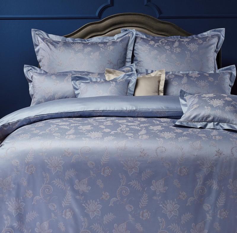 Curt Bauer Bettwäsche Set Elizabeth in royal blau 135x200cm und 80x80 oder 40x80cm Kissen