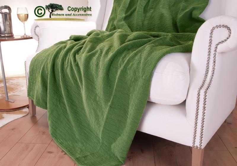 Tagesdecke Amelie, französischer Überwurf grün 180x260cm