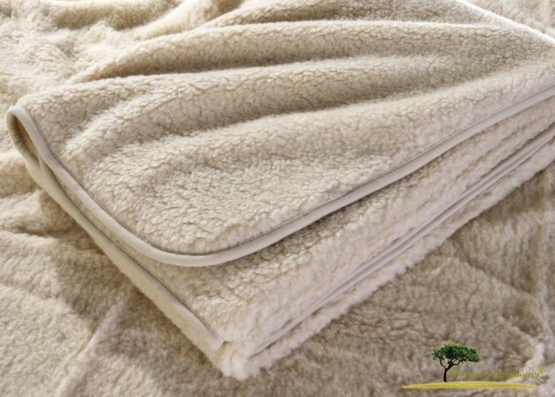 Wolldecke (Bettdecke) Almond 135x200cm aus 100% Merinowolle