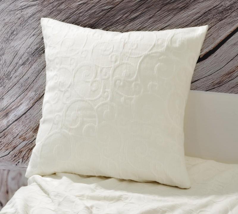 Kissen Fleur - florale Rankenmuster - weiß 45x45cm