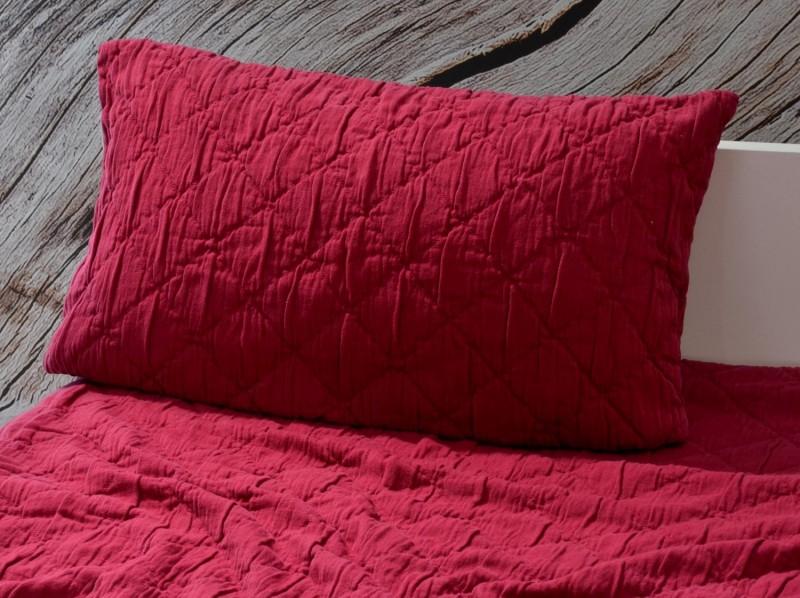 Kissen Aveiro - Rautenmuster - bordeaux rot 30x50cm