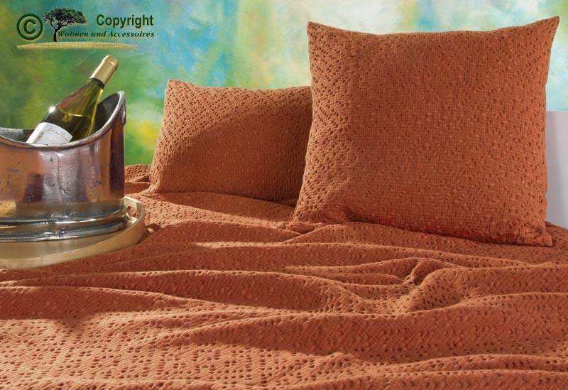 Kissen 45x45cm Adele mit Ajour Muster in orange