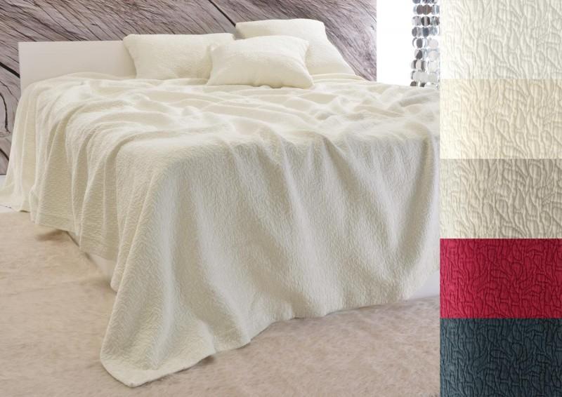 Tagesdecke Estoril - Paisley Muster - elfenbein 180x260 - 260x300cm