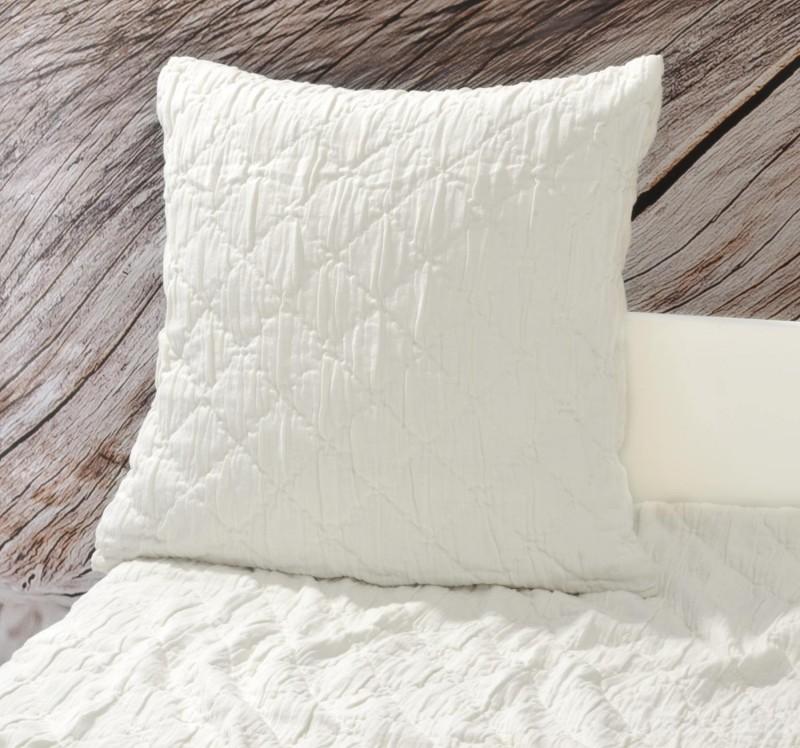 Kissen Aveiro - Rautenmuster - weiß 45x45cm