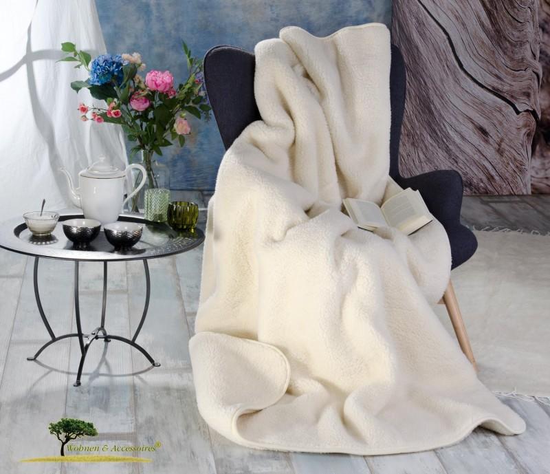 Dicke Wolldecke (Bettdecke) Luka 135x200cm aus 100% Merinowolle