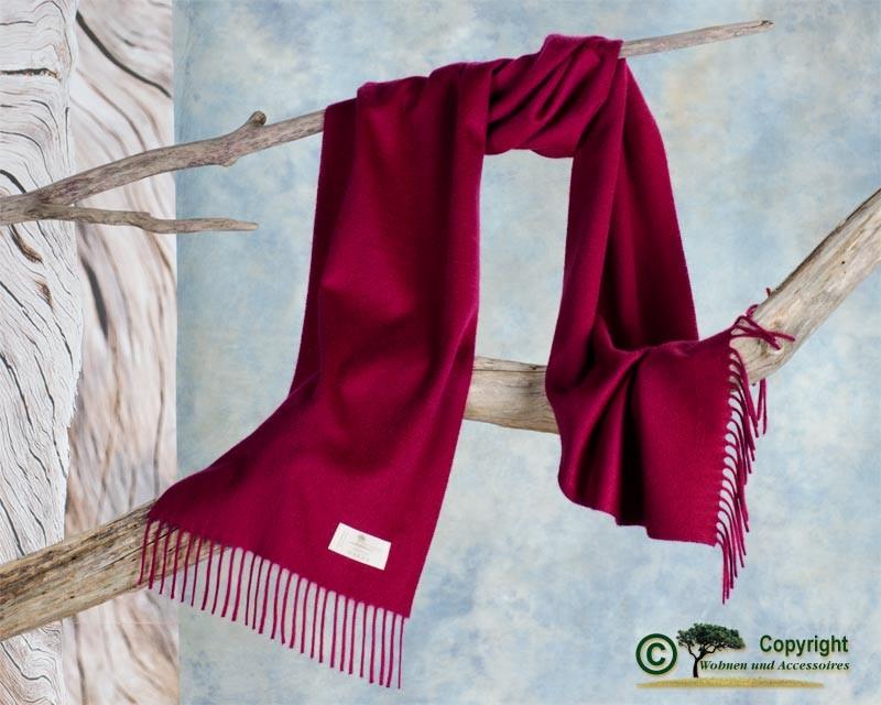 Luxuriöser Kaschmirschal Perlmutt mit Wasserglanz, Schal aus 100% Kaschmir mit Wasserglanz rot