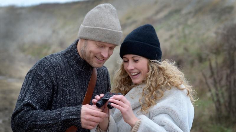 Mütze Possum-Merino Wolle, Wollmütze, Beanie schwarz uni