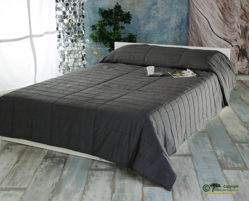 Linum Tagesdecke Surf in 270x260cm anthrazit