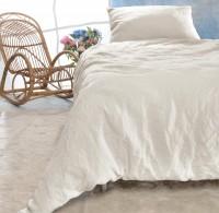Leinen-Bettwäsche-Set Sintra elfenbein-weiß 100% Leinen - hergestellt in Portugal nach Öko Tex 100