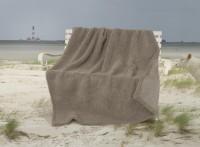 Dicke Wolldecke Nordsee aus Schurwolle von Schafen der Deich- und Küstenlandschaften in grau-braun / Ausgewählt: 150x200cm