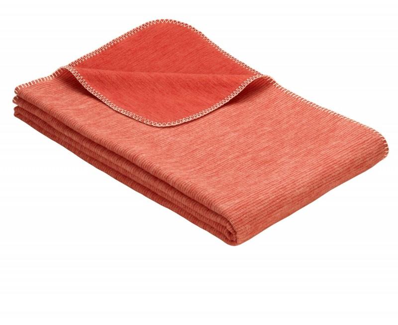 IBENA Babydecke aus 100% Baumwolle GOTS zertifiziert 100x140cm orange