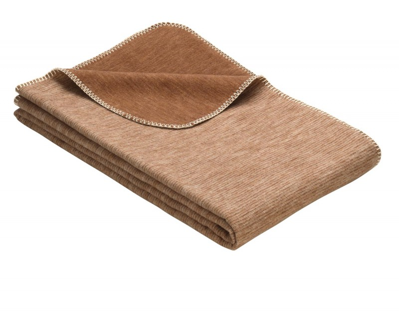 IBENA Babydecke aus 100% Baumwolle GOTS zertifiziert 100x140cm braun