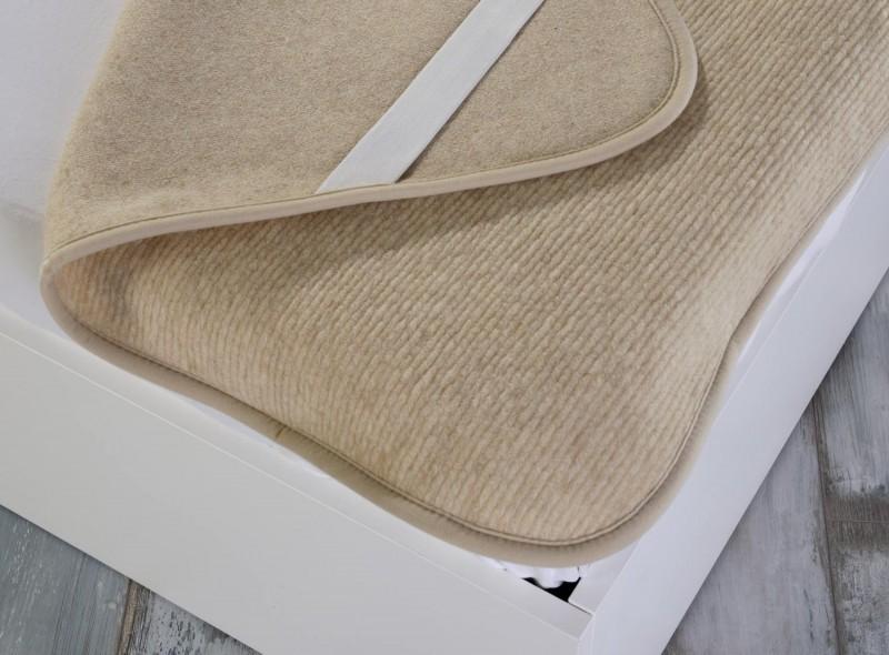 Matratzenauflage (Matratzentopper) aus 100% Merinowolle 90x200cm