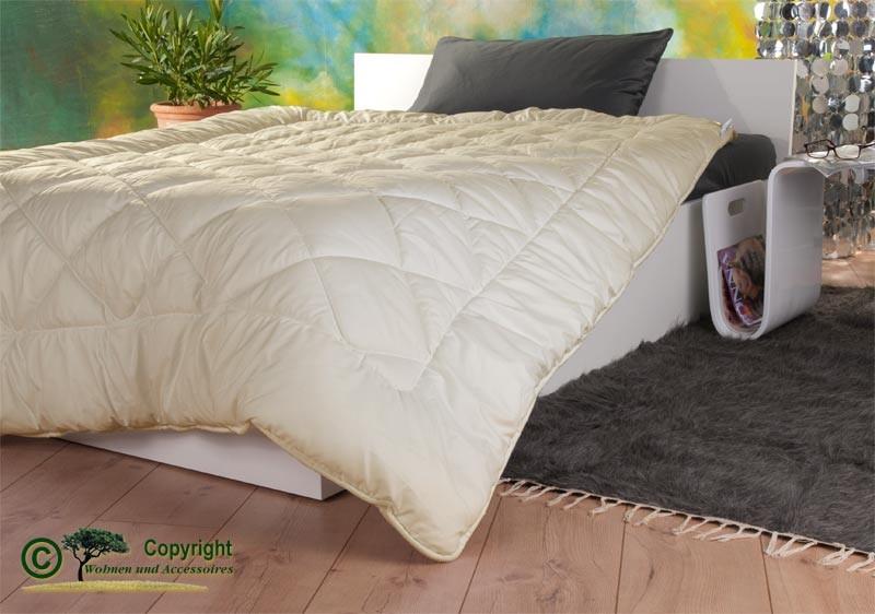 Bettdecke mit Füllung aus Tussa Seide und Gewebe aus Öko-Satin