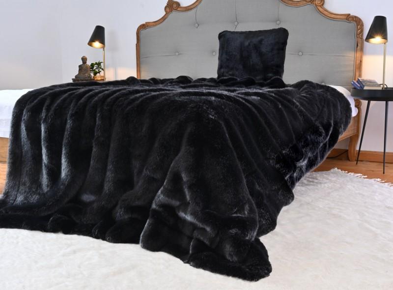 Premium Plus Felldecke Onyx schwarz in 5 Größen