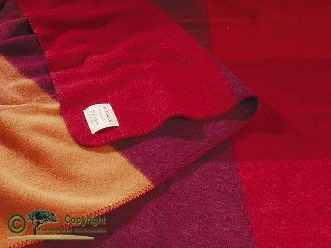 ÖKO-Test empfehlenswert - Kinderdecke, Krabbeldecke, Kinder Wolldecke, Monza rot 100x150cm