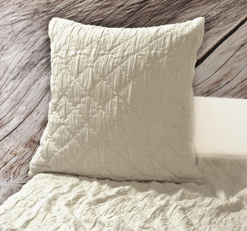 Kissen Aveiro - Rautenmuster - beige 45x45cm