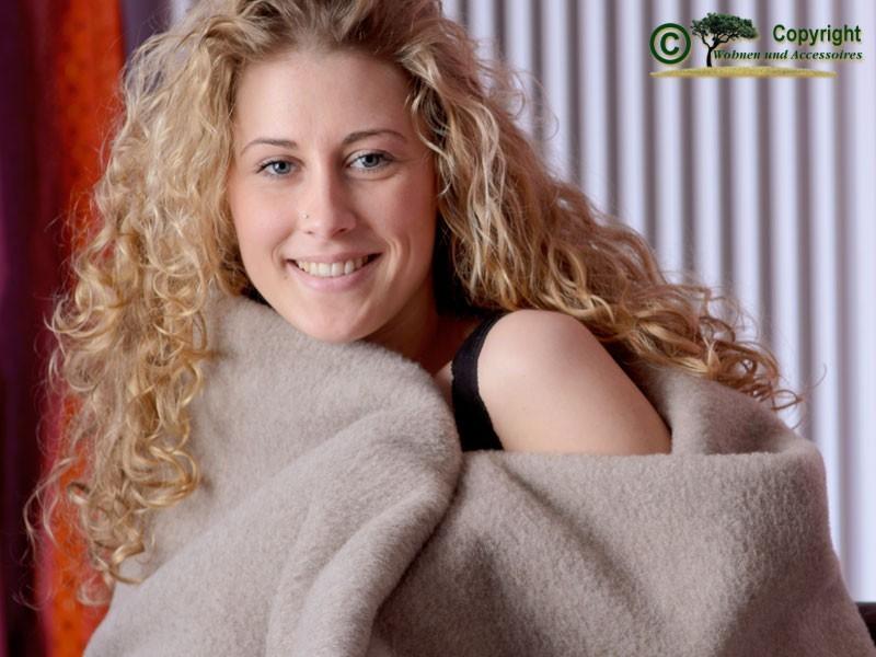 100% Merino-Lammwolle Wolldecke von Ritter in 150x200-220cm mongolgrau - super weich und toll warm